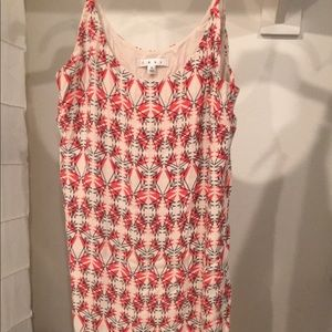 Cabi red patterned dress